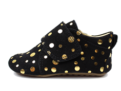 Pom Pom hjemmesko black gold dot